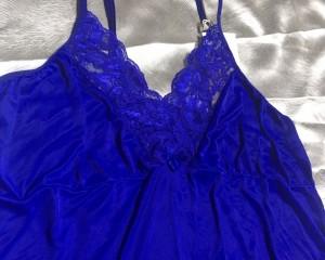 Camisola liganete e renda - Azul - 50