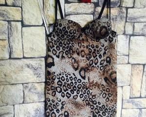 Camisola em chiffon - Onça - G